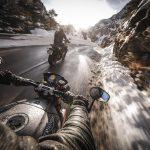 Fotografía motos ruta hielo
